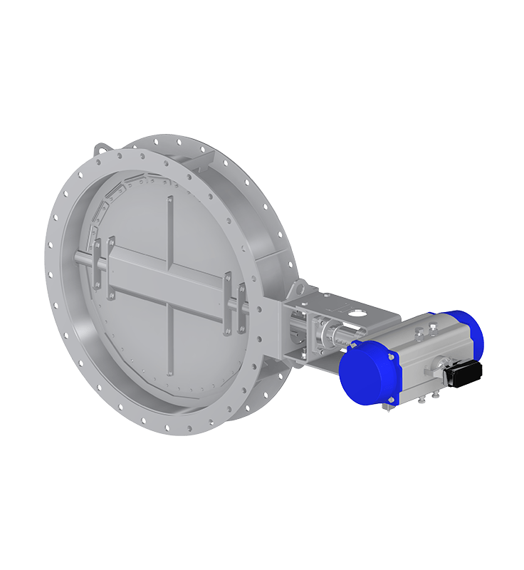 Round single damper